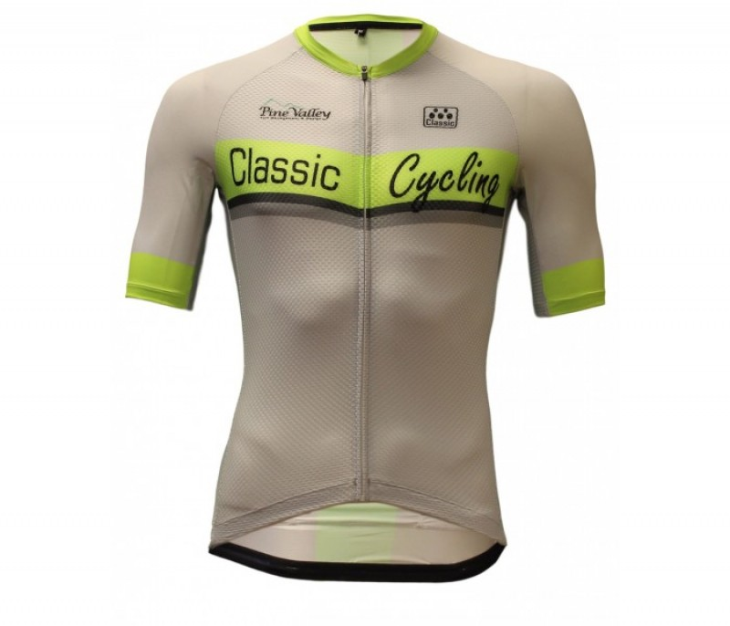 N/A Classic Cycling  Classic Cycling Silver Ice Jersey s,m,xl