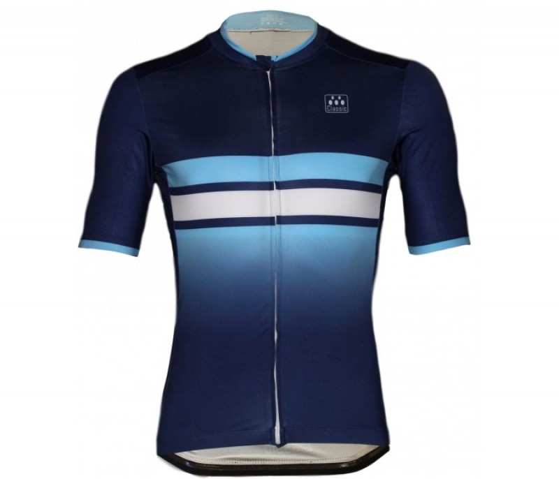 N/A Classic Cycling  Classic Cycling Navy Fade Jersey Select at checkout